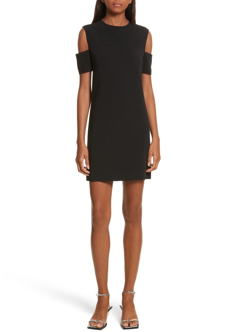 Helmut Lang Cold Shoulder Shift Dress