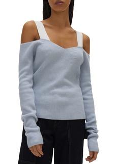 Helmut Lang Cold Shoulder Sweater