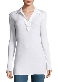 Helmut Lang Collared Henley Top