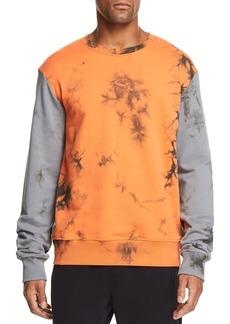 Helmut Lang Color-Block Acid-Wash Sweatshirt