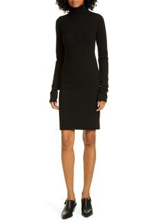 Helmut Lang Compact Merino Wool Blend Long Sleeve Sweater Dress