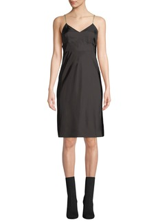 Helmut Lang Compact Viscose Slip Dress