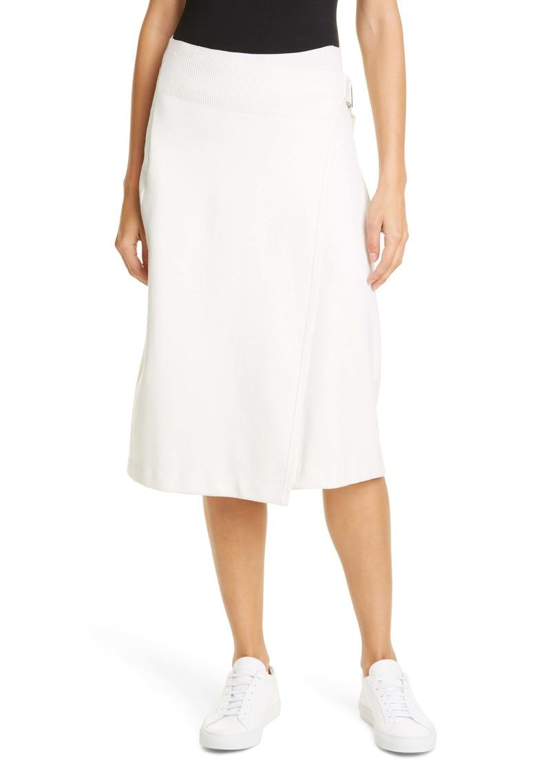 Helmut Lang Compact Wool Blend Skirt