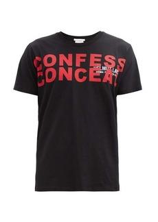Helmut Lang Confess Conceal-print cotton-jersey T-shirt