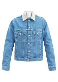 Helmut Lang Contrast-collar denim jacket