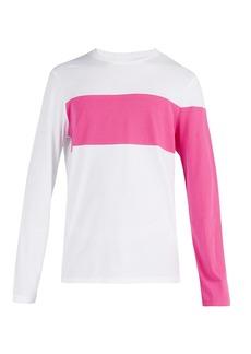 Helmut Lang Contrast-panelled long-sleeved T-shirt