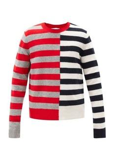Helmut Lang Contrast-striped wool-blend sweater