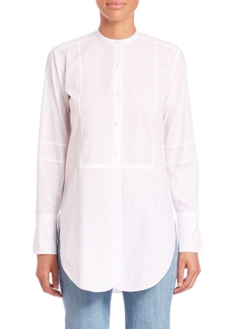 Helmut Lang Cotton Poplin Tuxedo Shirt