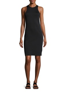 Helmut Lang Crew Neck Crepe Tank Dress