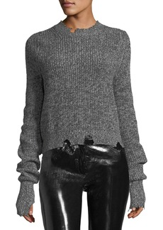 Helmut Lang Crewneck Long-Sleeve Knit Sweater