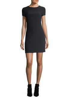 Helmut Lang Crewneck Short-Sleeve Mini Dress