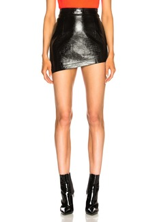 Helmut Lang Croc Mini Skirt