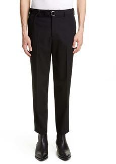 Helmut Lang Crop Slim Fit Wool Dress Pants