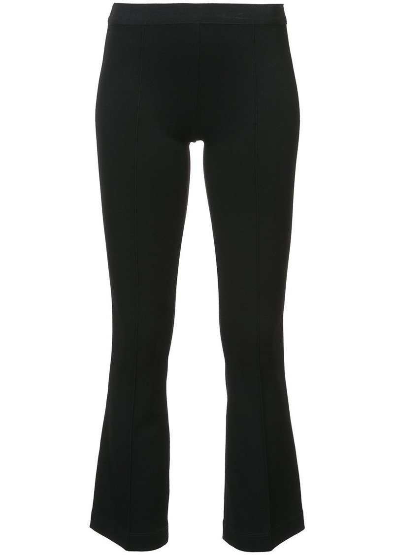 Helmut Lang cropped flare rib trousers