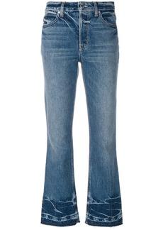 Helmut Lang cropped flared jeans - Blue