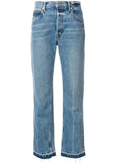 Helmut Lang cropped jeans - Blue