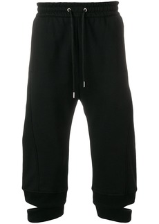 Helmut Lang cropped loose fit trousers - Black