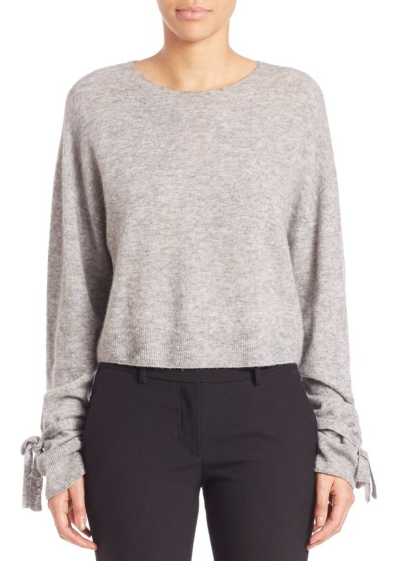 Helmut Lang Cropped Merino Wool Blend Pullover