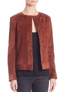 Helmut Lang Cropped Suede Jacket