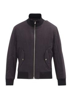 Helmut Lang Crossover-strap brushed-cotton bomber jacket