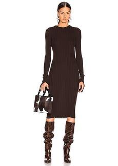 Helmut Lang Cuff Slit Dress
