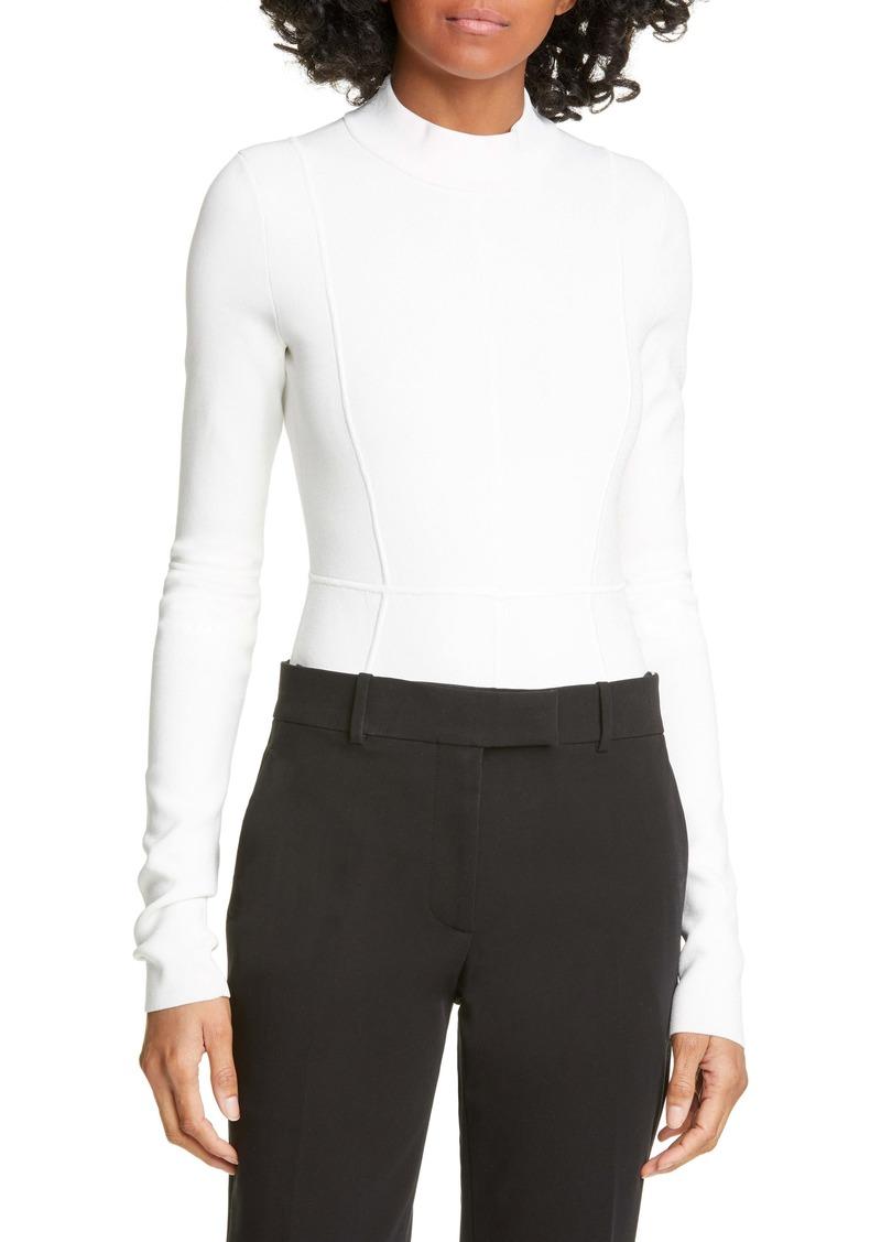 Helmut Lang Cutout Back Long Sleeve Bodysuit