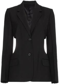 Helmut Lang cutout cotton blend blazer - Black