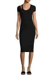 Helmut Lang Cutout Cotton Midi Dress