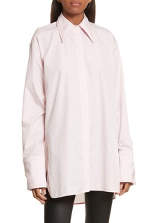 Helmut Lang Cutout Cotton Poplin Shirt