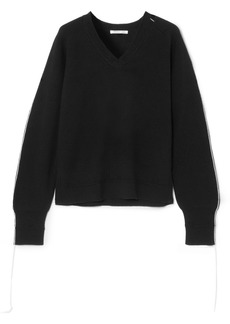 Helmut Lang Cutout distressed wool-blend sweater
