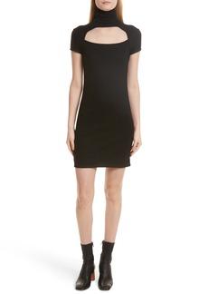 Helmut Lang Cutout Wool Blend Dress