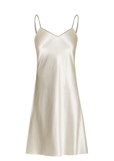 Helmut Lang Decorative-zip silk-satin slip dress