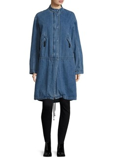 Helmut Lang Denim Long-Sleeve Parka