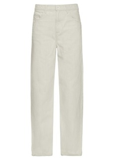Helmut Lang Destroy high-rise flared jeans