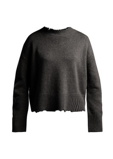 Helmut Lang Distressed crew-neck sweater