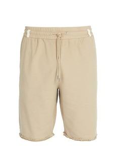 Helmut Lang Distressed hem cotton shorts
