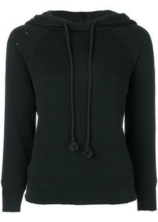Helmut Lang distressed hoodie - Black