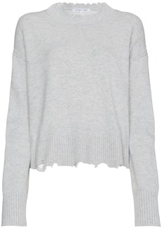 Helmut Lang distressed knit cotton jumper