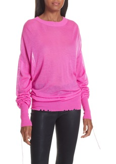 Helmut Lang Distressed Sheer Cashmere Sweater