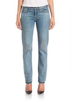 Helmut Lang Distressed Slim-Leg Jeans