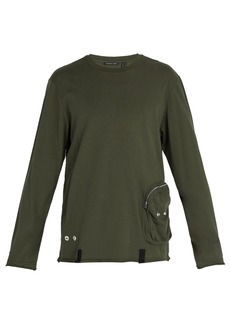 Helmut Lang Distressed utility crew-neck top