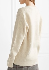 Helmut Lang Helmut Lang Distressed wool and cashmere-blend sweater ... fe7ba202f