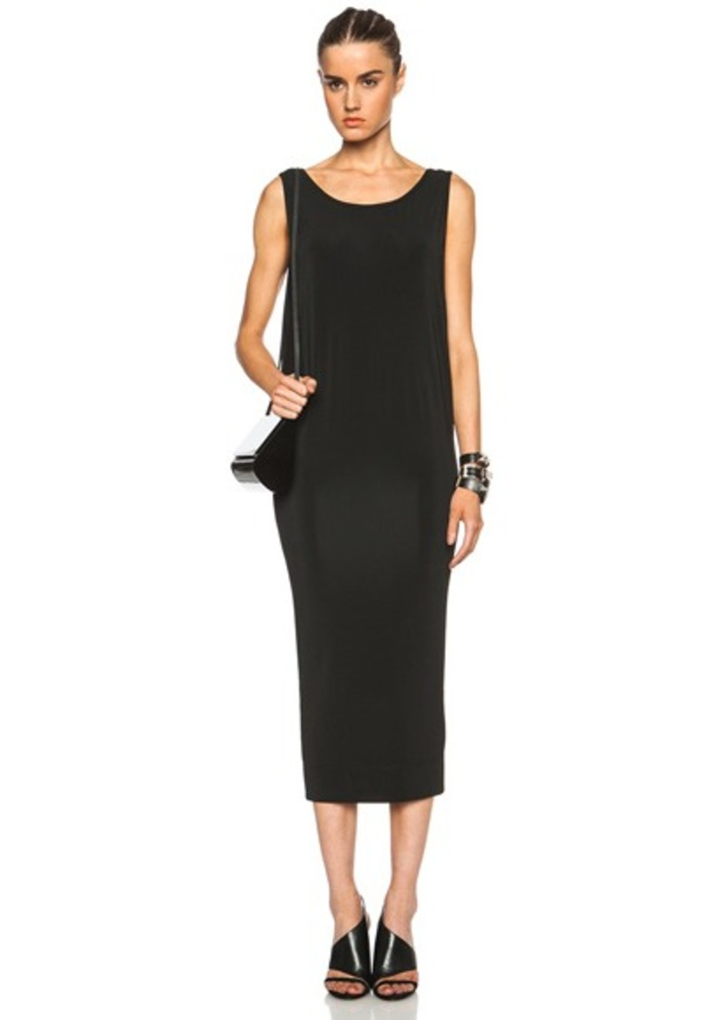 Helmut Lang Faint Viscose-Blend Long Dress