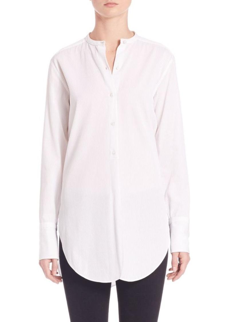 Helmut Lang Dobby Striped Tuxedo Shirt