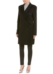 Helmut Lang Double Breasted Wool-Blend Coat