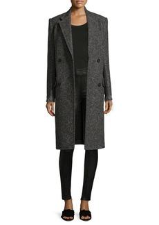 Helmut Lang Double-face Deconstructed Wool Coat