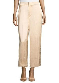 Helmut Lang Double Satin Wide-Leg Pants