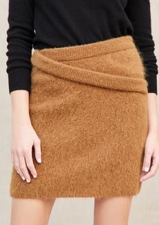 Helmut Lang Double Waistband Alpaca Skirt
