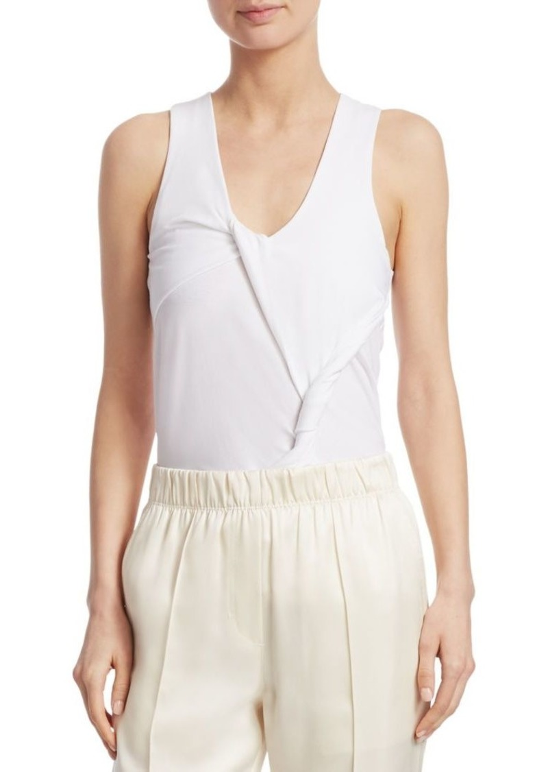 Helmut Lang Draped Twist Tank