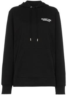 Helmut Lang drawstring logo hoodie - Black